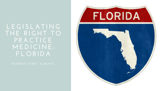 Florida Legislature Considering Legislating Right to Practice Medicine to NPs