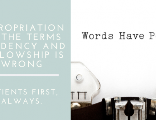 Why the Appropriation of the Terms Residency and Fellowship is Wrong