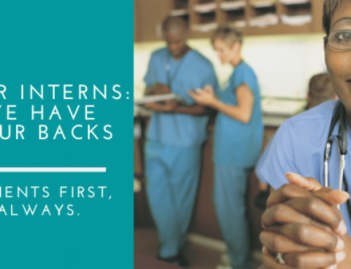 Dear Interns: We have your back